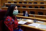 La ministra española de Defensa, Margarita Robles, este viernes en el Congreso.