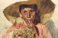 'Comiendo uvas' (1898), acuarela sobre papel de Joaquín Sorolla.