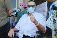 Julio César Pintos, tras salir del hospital este viernes.
