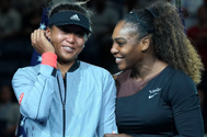 (FILES) In this file photo taken on September 08, 2018, US Open Womens Single champion Naomi lt;HIT gt;Osaka lt;/HIT gt; (L) of Japan with Serena Williams at the 2018 US Open at the USTA Billie Jean King National Tennis Center in New York. - lt;HIT gt;Osaka lt;/HIT gt;, 22, has become the world's highest-paid female athlete, making $37.4 million (34.3 million euros) in the past 12 months for an earnings record, Forbes magazine reported on May 22, 2020. lt;HIT gt;Osaka lt;/HIT gt;, a two-time Grand Slam champion, edged Williams by $1.4 million in prize money and endorsement income over the past year. (Photo by TIMOTHY A. CLARY / AFP)