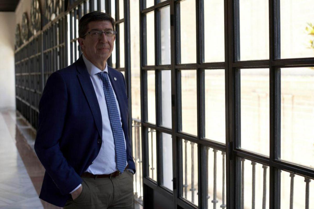 Juan Marín, esta semana en el Parlamento de Andalucía.