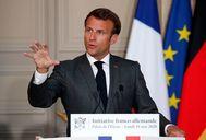 El presidente francés, Emmanuel Macron, la semana pasada.