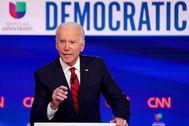El aspirante demócrata Joe Biden.