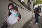 Un mural en un hospital de Roma