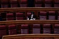 La presidenta de Ciudadanos, Inés Arrimadas, en el Congreso.