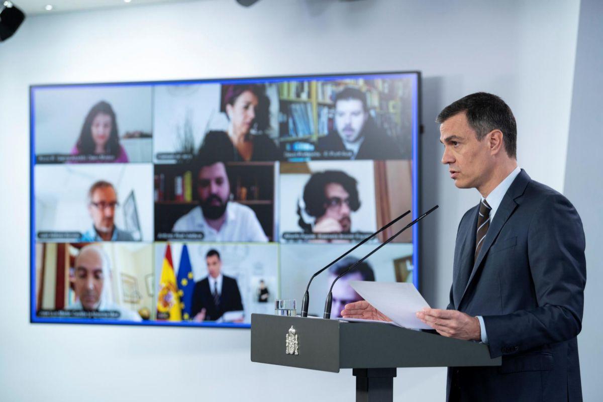 Pedro Sánchez niega contradicciones sobre la derogación de la reforma laboral entre Pablo Iglesias y Nadia Calviño