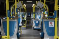 Interior de un autobús de la EMT