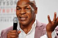 Mike Tyson, durante una rueda de prensa.
