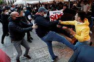 Incidentes en Pamplona durante una protesta en apoyo a Patxi Ruiz.