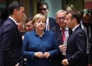 Merkel, Macron y Sánchez