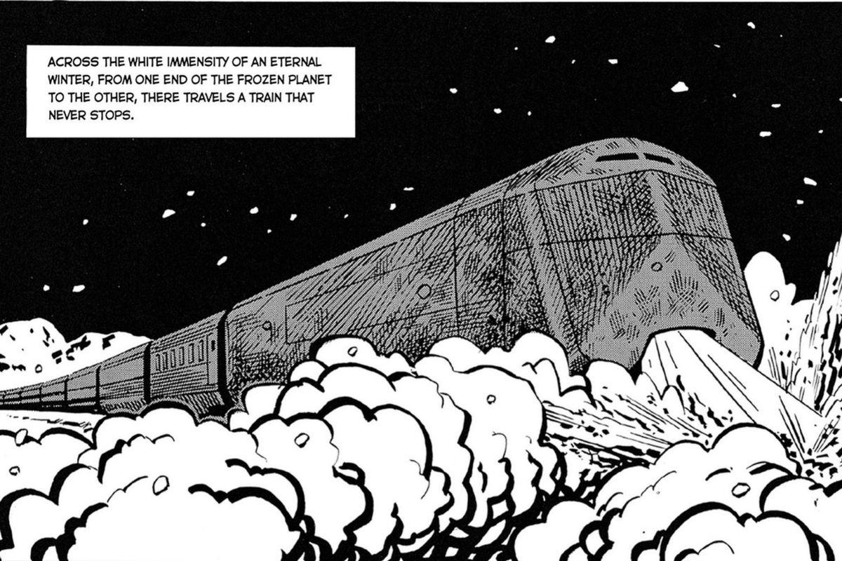 El mítico tren de Wilford en una imagen del cómic.