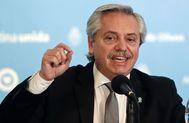 Alberto Fernández, presidente de Argentina, durante una conferencia de prensa.
