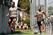 Sergio Ramos y Carvajal, en un entrenamiento con el Real Madrid.