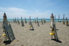 Playa de Ostia (cerca de Roma), hace unos días, aún cerrada al público.