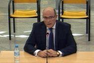 Diego Pérez de los Cobos, durante su declaración en la Audiencia en el juicio contra Josep Lluís Trapero.