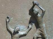 Escultura de Caín y Abel.