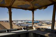 El aeropuerto de Teruel visto desde un antiguo mirador.