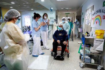 Un paciente del Hospital Infanta Sofia ingresado por Covid 19 dos meses, fue dado de alta el pasado 15 de mayo.