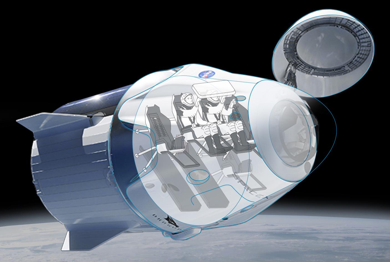 EEUU vuelve a tener nave propia: Así es el taxi espacial que SpaceX ha construido para la NASA