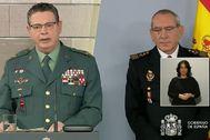Laurentino Ceña, a la izquierda, en una rueda de prensa reciente.