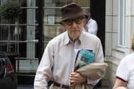 Woody Allen, durante un viaje a Bélgica.