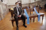 Juan Carlos Quer, padre de Diana Quer, en el Tribunal Superior de Justicia de Galicia.