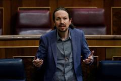 Pablo Iglesias, durante la última sesión de control al Gobierno en el Congreso.