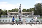 Parque del Retiro tras su reapertura.
