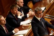El primer ministro checo, Andrej Babis, en una imagen de archivo en el Parlamento.