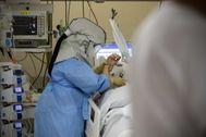 Atención a un paciente ingresado en un hospital ingresado en un hospital de Madrid