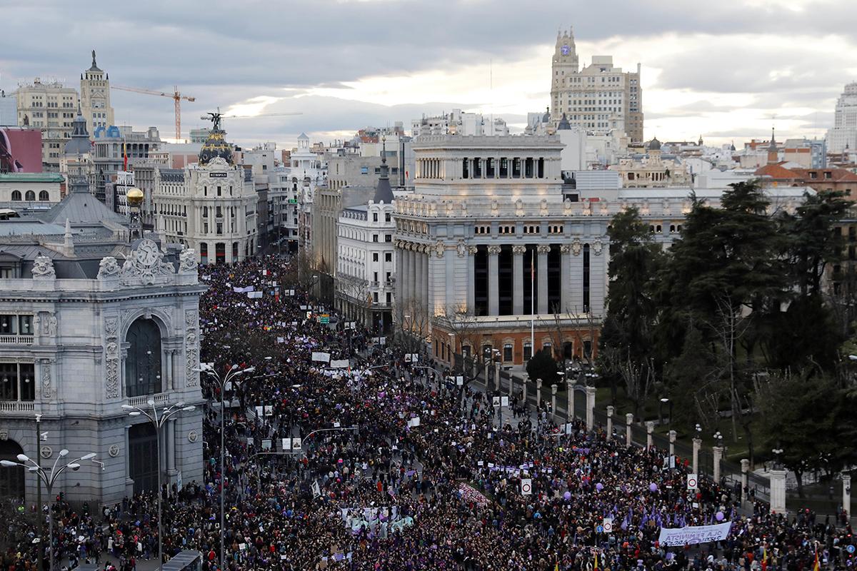 La manifestación celebrada en Madrid el pasado 8 de marzo.