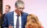 El gobernador del Banco de España, Pablo Hernández de Cos y la vicepresidenta económica, Nadia Calviño.