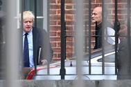 Johnson y Cummings en el 10 de Downing Street, en septiembre de 2019.