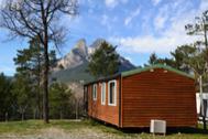 Vistas a los Pirineos del camping Repòs del Pedraforca.