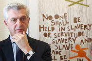 Filippo lt;HIT gt;Grandi lt;/HIT gt;, United Nations High Commissioner for Refugees (UNHCR), attends a news conference in Geneva, Switzerland, March 3, 2020. Picture taken March 3, 2020. REUTERS/Denis Balibouse - RC28VF9DVY1X