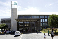 Entrada al Hospital Provincial de Castellón.