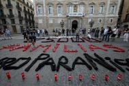 Protesta en Barcelona de los trabajadores de Nissan