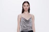 Top de inspiración lencera de Zara, por 5,99 ¤.