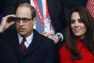 El príncipe y Kate Middleton, durante un partido de rugby, en 2017.