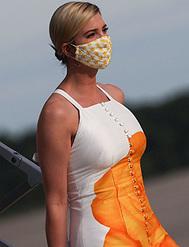 Ivanka Trump o cómo llevar la mascarilla a juego con el look