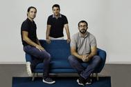 De izquierda a derecha, Pablo Blanes, Joaquín Cuenca y Alejandro Blanes.