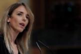 MADRID.- La portavoz del Grupo Popular, lt;HIT gt;Cayetana lt;/HIT gt; Álvarez de Toledo, durante su intervención en el pleno celebrado este miércoles en el Congreso.