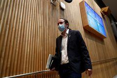 El vicepresidente segundo del Gobierno, Pablo Iglesias, este jueves en el Congreso.