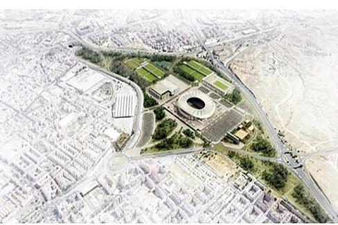 Proyección del entorno del Wanda Metropolitano