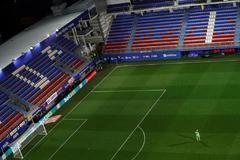 Imagen del último partido jugado de LaLiga, el 10 de marzo en Ipurua.