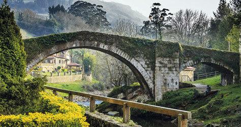 Puente medieval de Liérganes, en Cantabria.