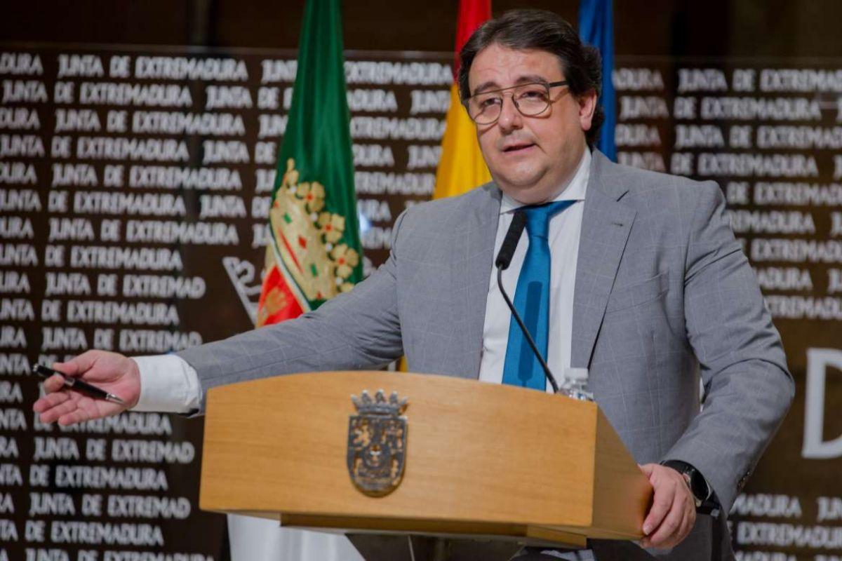 José María Vergeles, consejero de Sanidad de Extremadura.