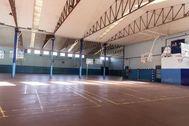 Gimnasio en un colegio público de Madrid.