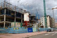 Obras en un edificio de viviendas en Castellón.