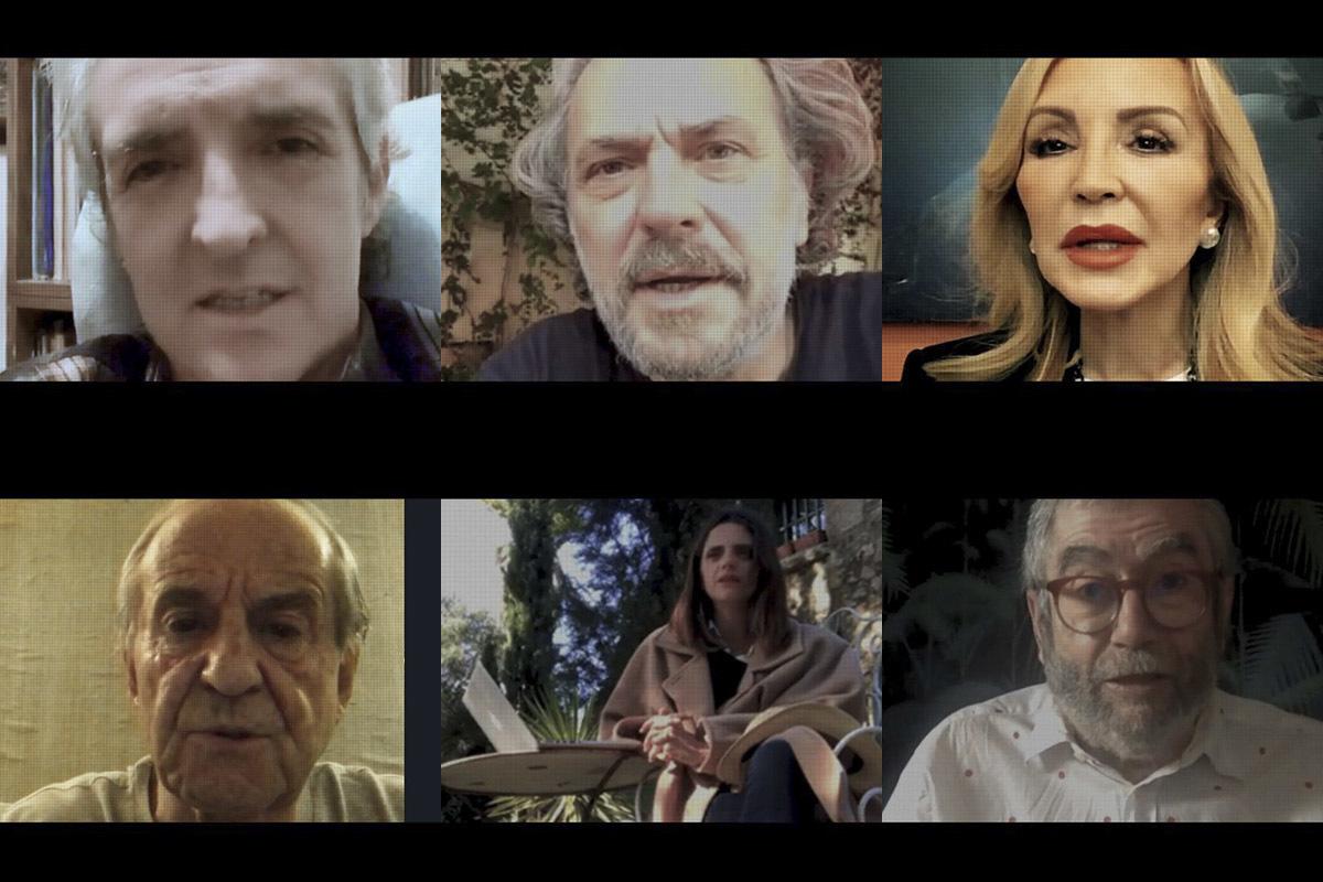 Ramoncín, José Coronado, Carmen Lomana, José María García, Macarena Gómez y Antonio Muñoz Molina en '40 españoles en cuarentena'.